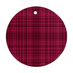 Plaid Design Ornament (round) by Valentinaart