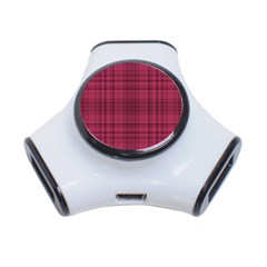 Plaid Design 3 Port Usb Hub