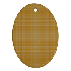Plaid Design Oval Ornament (two Sides) by Valentinaart