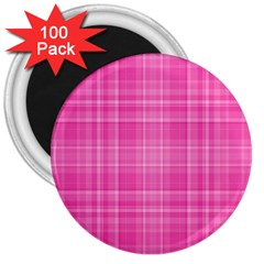 Plaid Design 3  Magnets (100 Pack)