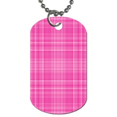 Plaid Design Dog Tag (one Side) by Valentinaart