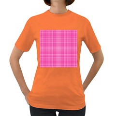 Plaid Design Women s Dark T Shirt