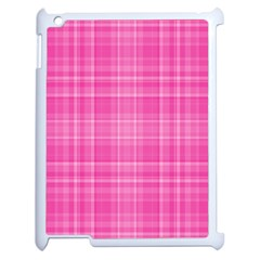 Plaid Design Apple Ipad 2 Case (white) by Valentinaart