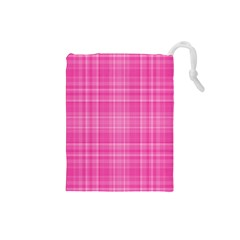 Plaid Design Drawstring Pouches (small)  by Valentinaart