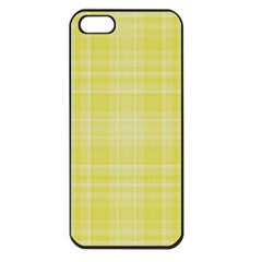Plaid Design Apple Iphone 5 Seamless Case (black) by Valentinaart
