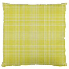 Plaid Design Large Flano Cushion Case (one Side) by Valentinaart