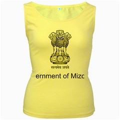 Seal Of Indian State Of Mizoram Women s Yellow Tank Top by abbeyz71