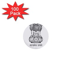 Seal Of Indian State Of Mizoram 1  Mini Buttons (100 Pack)  by abbeyz71