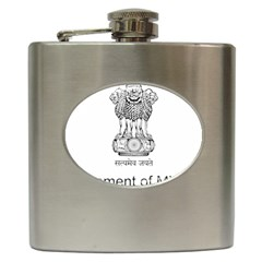 Seal Of Indian State Of Mizoram Hip Flask (6 Oz) by abbeyz71