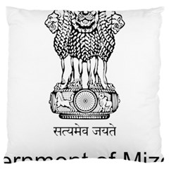 Seal Of Indian State Of Mizoram Large Cushion Case (two Sides) by abbeyz71