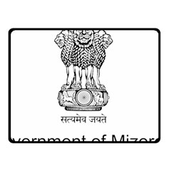 Seal Of Indian State Of Mizoram Double Sided Fleece Blanket (small)  by abbeyz71