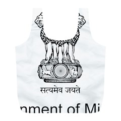 Seal Of Indian State Of Mizoram Full Print Recycle Bags (l)  by abbeyz71
