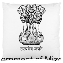 Seal Of Indian State Of Mizoram Standard Flano Cushion Case (one Side) by abbeyz71