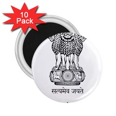 Seal Of Indian State Of Mizoram 2 25  Magnets (10 Pack)  by abbeyz71