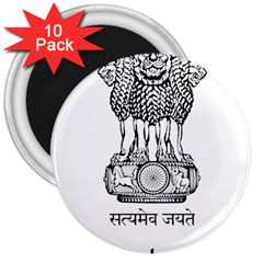 Seal Of Indian State Of Mizoram 3  Magnets (10 Pack)  by abbeyz71