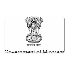 Seal Of Indian State Of Mizoram Magnet (rectangular) by abbeyz71