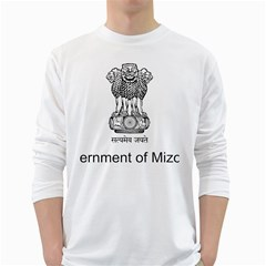 Seal Of Indian State Of Mizoram White Long Sleeve T-shirts by abbeyz71