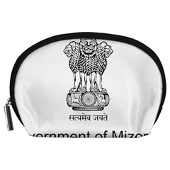 Seal Of Indian State Of Mizoram Accessory Pouches (large)  by abbeyz71