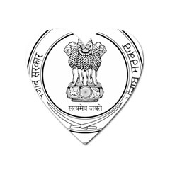 Seal Of Indian State Of Punjab Heart Magnet by abbeyz71