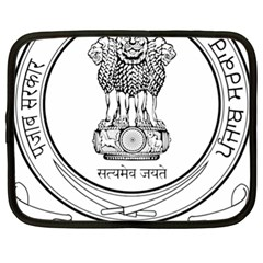Seal Of Indian State Of Punjab Netbook Case (xl)  by abbeyz71