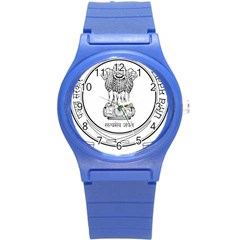 Seal Of Indian State Of Punjab Round Plastic Sport Watch (s) by abbeyz71
