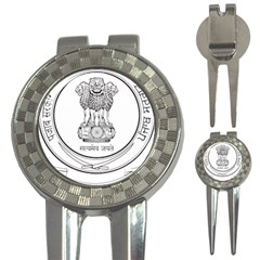 Seal Of Indian State Of Punjab 3 In 1 Golf Divots by abbeyz71