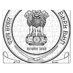 Seal Of Indian State Of Punjab Rectangular Jigsaw Puzzl by abbeyz71