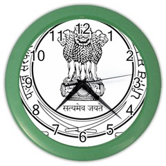 Seal Of Indian State Of Punjab Color Wall Clocks by abbeyz71