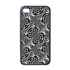 Metallic Mesh Pattern Apple Iphone 4 Case (black) by linceazul
