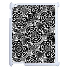 Metallic Mesh Pattern Apple Ipad 2 Case (white) by linceazul