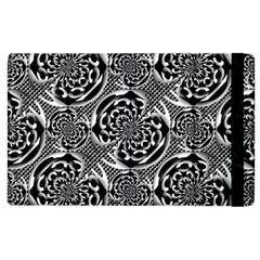 Metallic Mesh Pattern Apple Ipad 3/4 Flip Case by linceazul