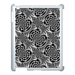Metallic Mesh Pattern Apple Ipad 3/4 Case (white) by linceazul