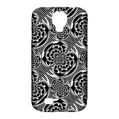 Metallic Mesh Pattern Samsung Galaxy S4 Classic Hardshell Case (pc+silicone) by linceazul