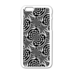 Metallic Mesh Pattern Apple Iphone 6/6s White Enamel Case by linceazul