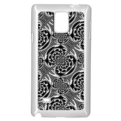 Metallic Mesh Pattern Samsung Galaxy Note 4 Case (white) by linceazul
