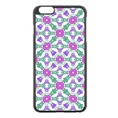 Multicolor Ornate Check Apple Iphone 6 Plus/6s Plus Black Enamel Case by dflcprints