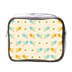 Birds And Daisies Mini Toiletries Bags by linceazul