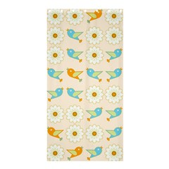 Birds And Daisies Shower Curtain 36  X 72  (stall)  by linceazul