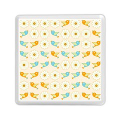 Birds And Daisies Memory Card Reader (square)  by linceazul