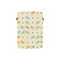 Birds And Daisies Apple Ipad Mini Protective Soft Cases by linceazul