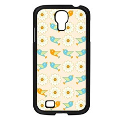 Birds And Daisies Samsung Galaxy S4 I9500/ I9505 Case (black) by linceazul