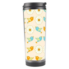 Birds And Daisies Travel Tumbler by linceazul