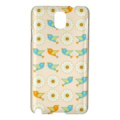 Birds And Daisies Samsung Galaxy Note 3 N9005 Hardshell Case by linceazul