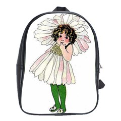 Daisy Vintage Flower Child Cute Funny Floral Little Girl School Bags(large)  by yoursparklingshop