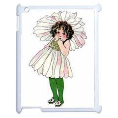 Daisy Vintage Flower Child Cute Funny Floral Little Girl Apple Ipad 2 Case (white) by yoursparklingshop