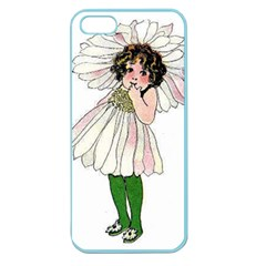 Daisy Vintage Flower Child Cute Funny Floral Little Girl Apple Seamless Iphone 5 Case (color) by yoursparklingshop
