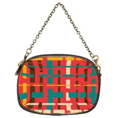 Colorful Line Segments Chain Purses (two Sides)  by linceazul