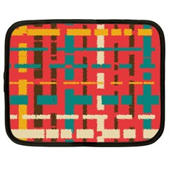 Colorful Line Segments Netbook Case (xl)  by linceazul