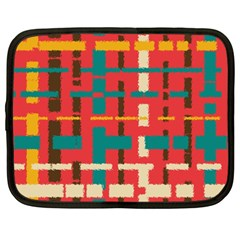 Colorful Line Segments Netbook Case (xxl)  by linceazul