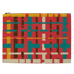 Colorful Line Segments Cosmetic Bag (xxl)  by linceazul